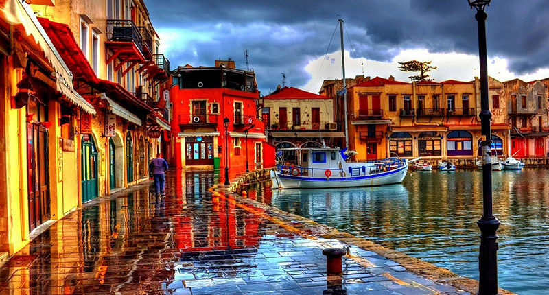 Rethymno Old Harbour Excursion with Taxi Or mini Coach by Chania Transfer Services